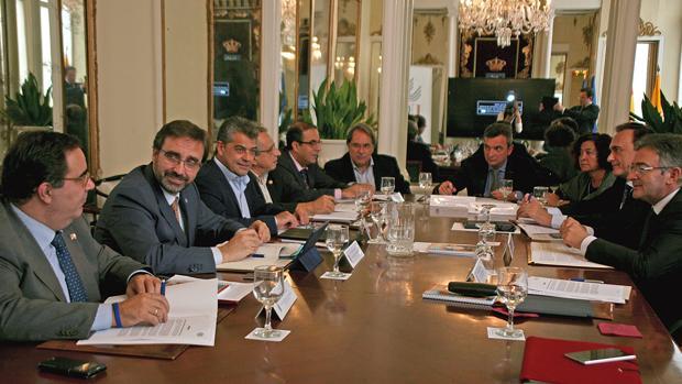 Los rectores de las universidades públicas andaluzas, reunidas ayer en Cádiz
