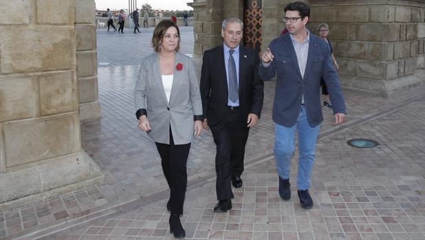 Foto previa a la reunión de la alcaldesa con la Red de juderías de España
