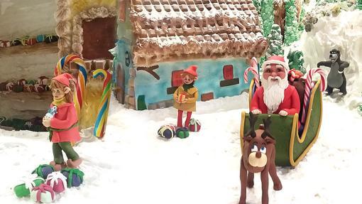 Una estampa navideña hecha de merengue