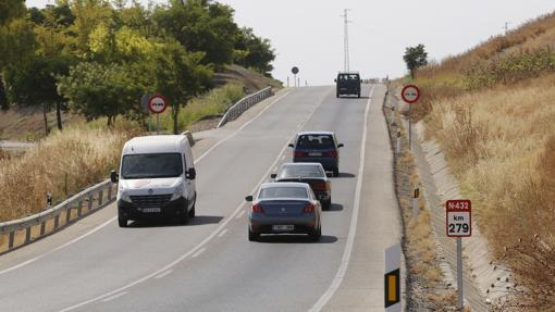 Tráfico en la carretera Badajoz-Granda