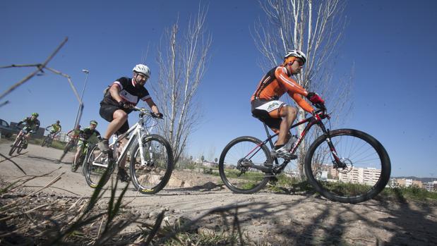 Ciclistas circulan por un circuito