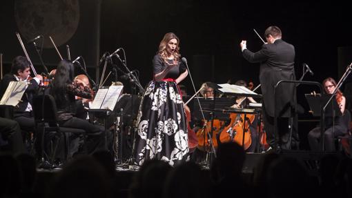 Ainhoa Arteta, durante un concierto en Córdoba