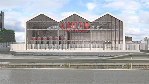 Vista frontal del proyecto de la fábrica