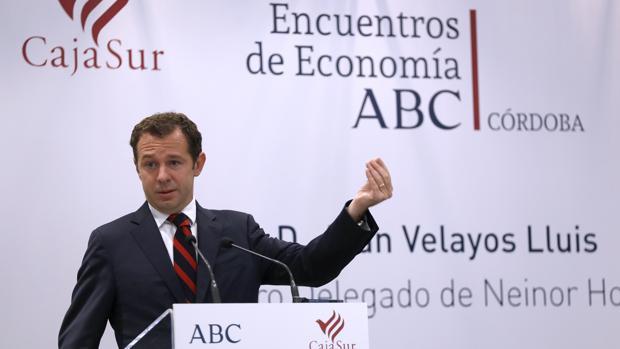 Juan Velayos, durante el Encuentro de Economía de ABC Córdoba