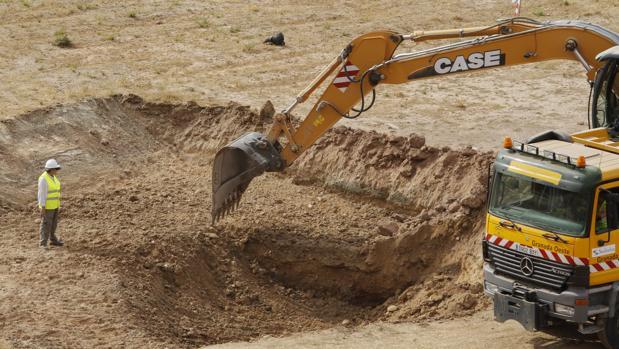 Las excavaciones en sus inicios