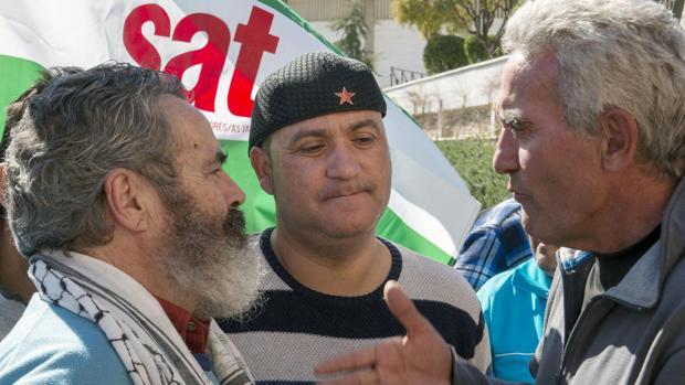 Andrés Bódalo, entre Sánchez Gordillo y Diego Cañamero