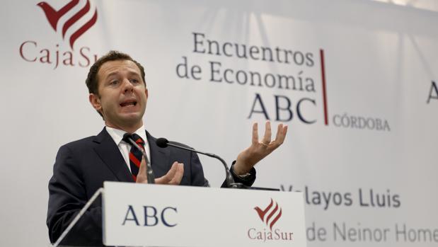 El consejero delegado de Neinor, durante el Encuentro ABC de Economía