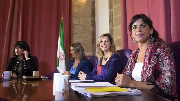 Debate de las candidatas a liderar Podemos Andalucía, en las instalaciones del Parlamento de Andalucía