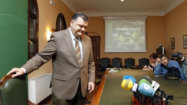 El delegado de Agricultura, Francisco Zurera, en un acto oficial de la Junta