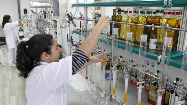 Interior de los laboratorios de Deoleo en Córdoba