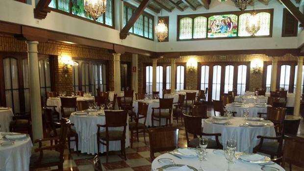 Salón del restaurante Las Camachas, en Montilla