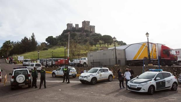 El Castillo de Almodóvar durante el rodaje de la serie