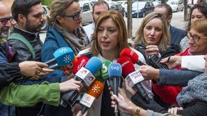 Susana Díaz calienta la incógnita de su futuro en el PSOE de televisión en televisión