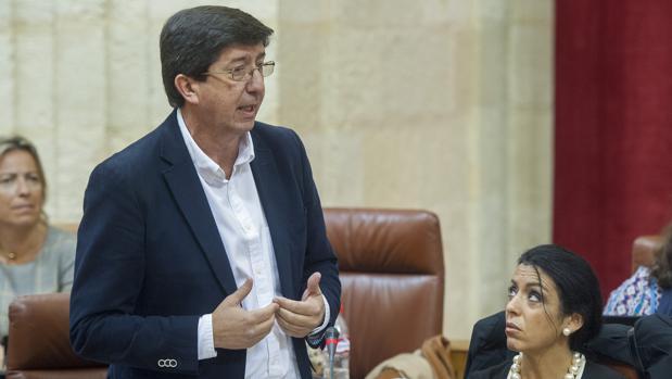 El presidente de Ciudadanos en Andalucía, Juan Marín