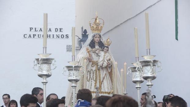 La Virgen del Socorro, en su rosario del año pasado