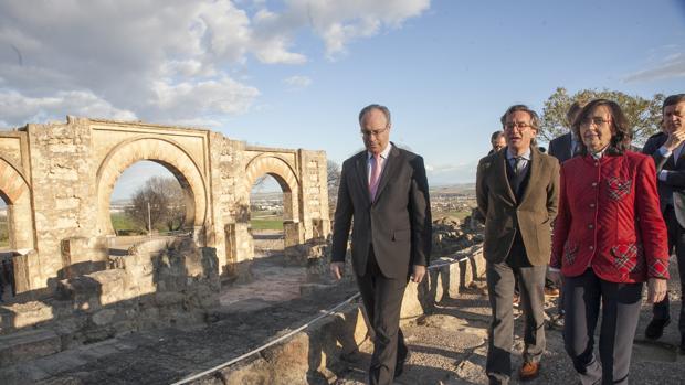 Visita de expertos en marzo pasado al yacimeinto de Medina Azahara