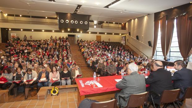 Un momento de la asamblea diocesana de Cáritas celebrada esta mañana