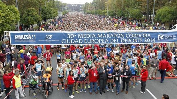 Salida de la Media Maratón de Córdoba