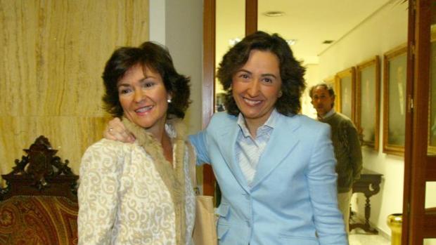 Carmen Calvo con Rosa Aguilar: ambas fueron ministras con José Luis Rodríguez Zapatero