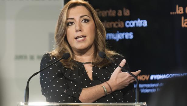 Susana Díaz en un acto de este lunes