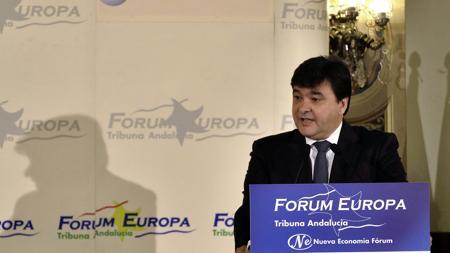 Gabriel Cruz durante su intervención en el Forum Europa Tribuna Andalucía