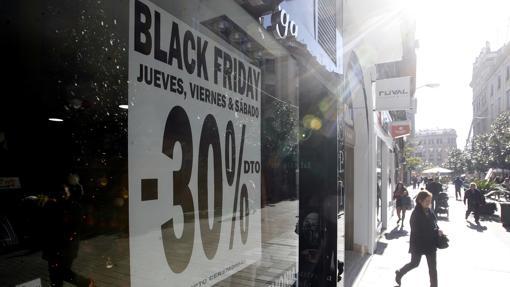 Cartel de descuentos del «Black Friday»