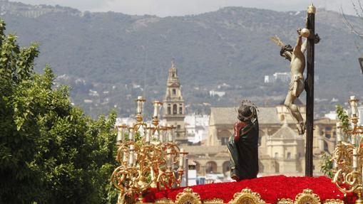 Santísimo Cristo del Amor, durante su procesión