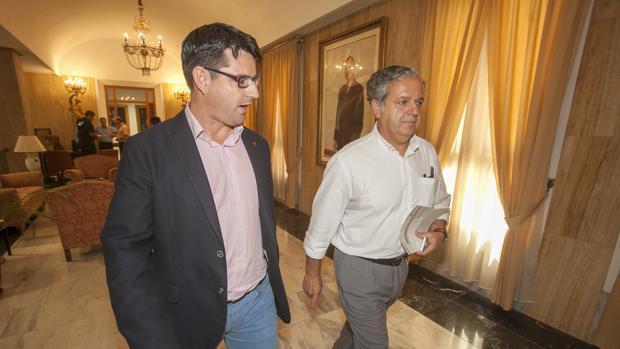 Pedro García y Salvador Fuentes, en una imagen de archivo