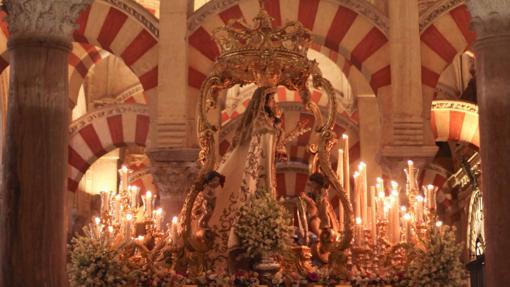 Nuestra Señora del Socorro durante, en la Catedral