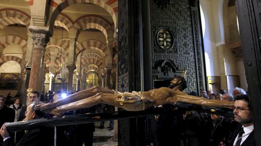 Santísimo Cristo de la Misericordia, durante su vía crucis