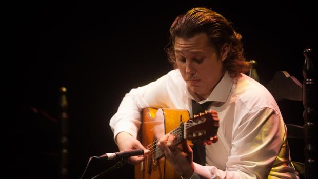 El Currito, guitarrista cordobés, durante su actuación