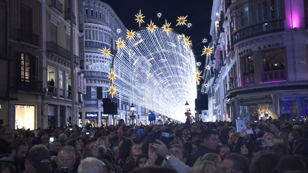 Así son las espectaculares luces de Navidad de Málaga
