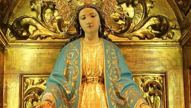 Virgen Milagrosa que procesionará el sábado