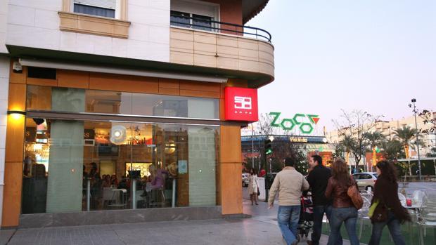 Lugar donde se produjo el crimen junto al Zoco