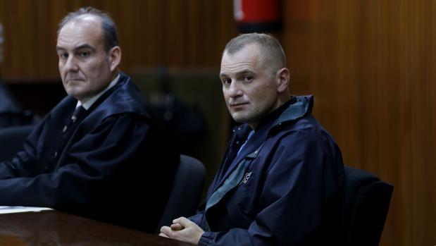 El segundo acusado del crimen del Zoco, durante el juicio