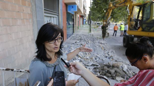La edil de Infraestructuras, Amparo Pernichi (IU)
