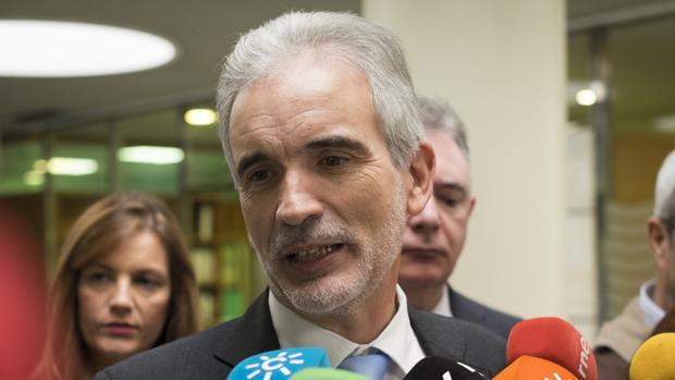 El consejero de Salud de la Junta de Andalucía, Aquilino Alonso
