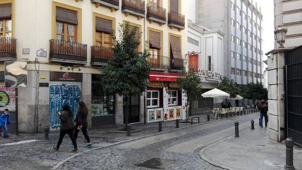 La zona de bares del centro de Granada donde ha tenido lugar la pelea mortal