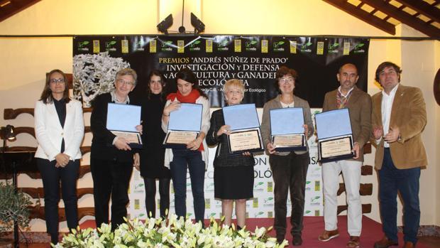 Foto de las distinciones de los Premios Andrés Núñez de Prado