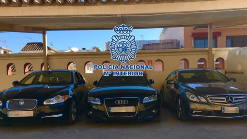 Los vehículos de gama alta incautados por la Policía