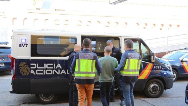 Momento de la detención del cordobés por parte de la Policía Nacional