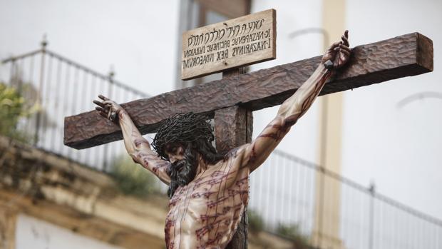 Santo Cristo de la Universidad, en procesión