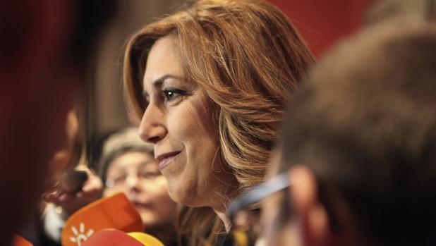 Susana Díaz en Bruselas este martes