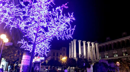 Iluminación navideña en la capital cordobesa