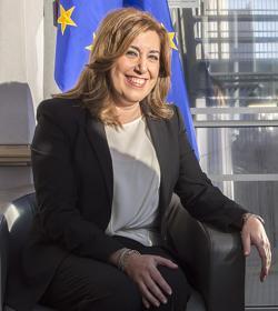 Susana Díaz, en Bruselas