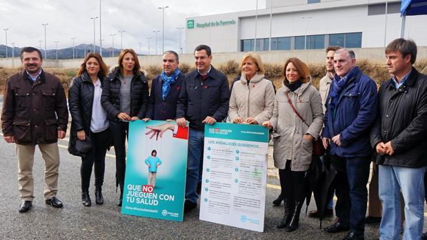 Moreno ha presentado en Ronda una campaña por la sanidad pública y de calidad