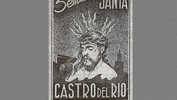 Cartel donde aparece el Cristo de la Misericordia