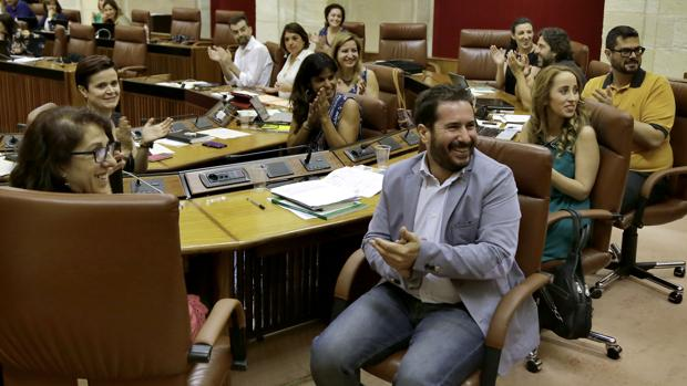 El grupo parlamentario de Podemos ha hecho uso de 14.536 euros en los dos primeros meses inhábiles