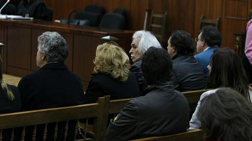 Gómez, sentado en el banquillo de los acusados