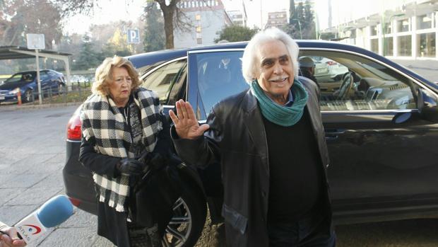 Rafael Gómez a su llegada a los juzgados